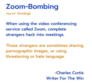 Zoom Bombs! Let's have some fun!