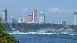 Niagara rapids approaching the falls