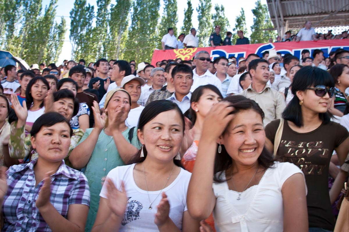 political rally in osh