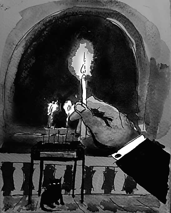 ...lighting the candle was an exclamation mark on everything that had led up to this point...