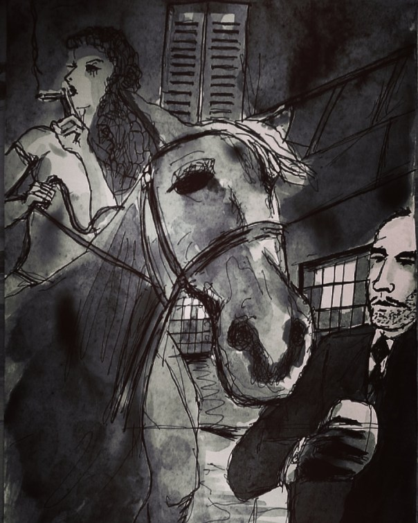 horse-noir