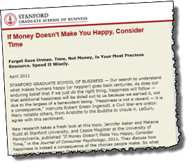 Time, Not Money, is the Key To Happiness - Tim Berry