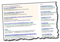 crowdfunding Google search