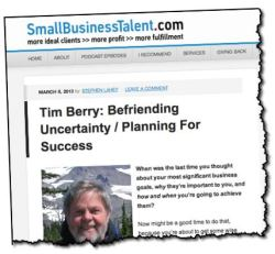 Tim Berry Stephen Lahey Small Business Talent