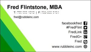 MBA business card