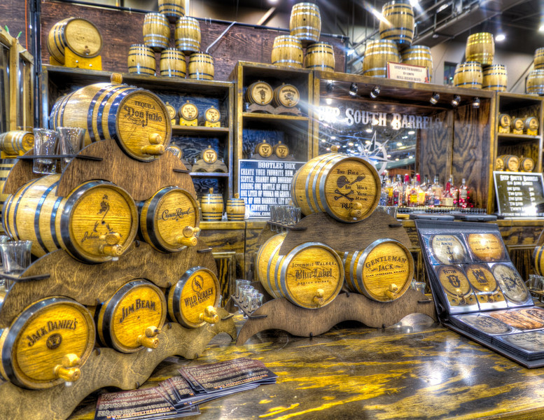 These little barrels are the perfect compliment to aging your spirits and showing them off, if you are so inclined. Me, I just think they're cool looking. Photo by Tim Stanley Photography.