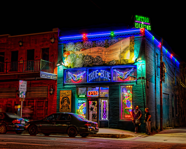 This colorful establishment can be found in downtown Austin, in case you were wanting some new body art. Photo by Tim Stanley Photography.
