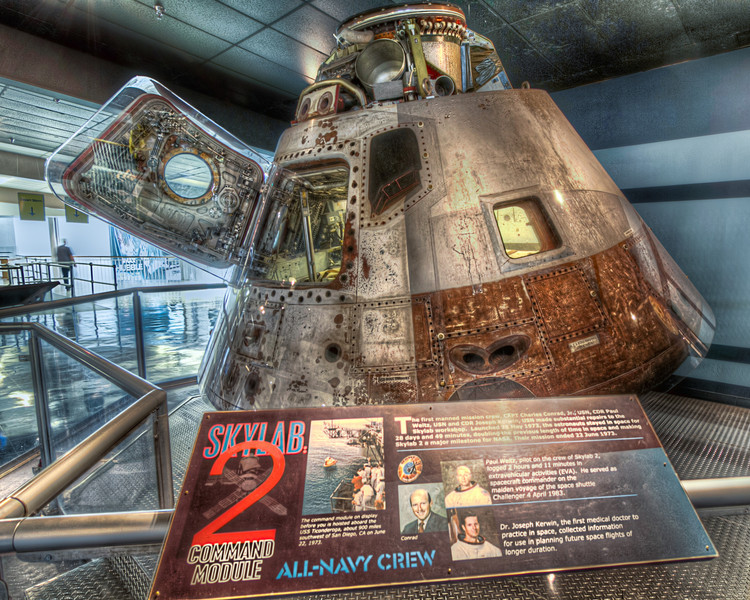 The Command Module that brought the Skylab 2 astronauts home is proudly on display at the National Naval Aviation Museum in Pensacola, Florida. Photo by Tim Stanley Photography.