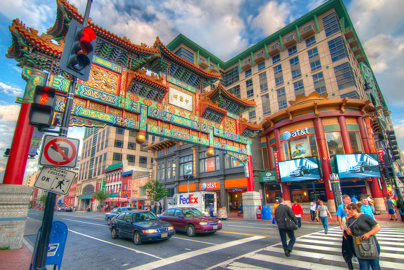 As it turned out, the closest stop to our hotel was right by Chinatown at the Friendship Arch. This arch really brightens up downtown and sets the tone for many of the stores in the area. Photo by Tim Stanley Photography