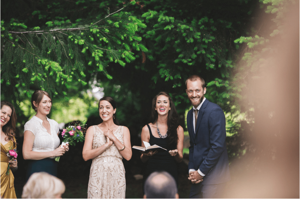 Here's a shot of Laura sharing some soul at Ashton and Nicole's wedding.