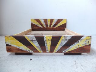 Queen industrial styled bed, can be made to any size