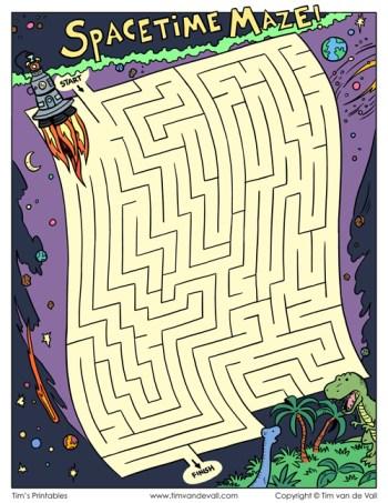Spacetime Maze - Color Version