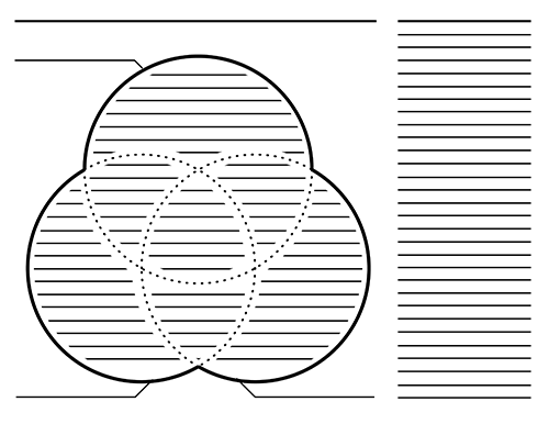 3 Circle Venn Diagram Organizers
