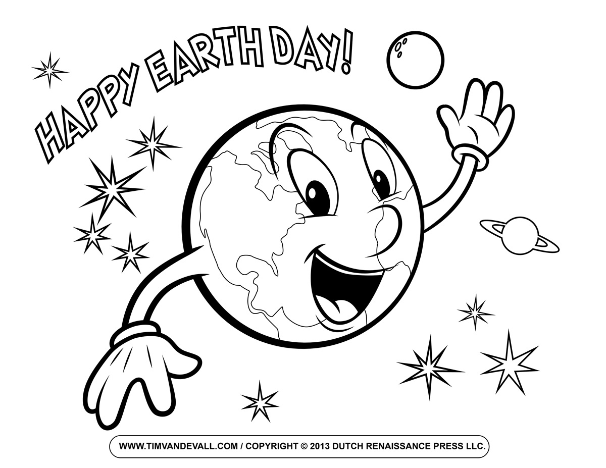 Printable Earth Day Coloring Pages For Kids