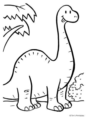 Brachiosaurus Coloring Page