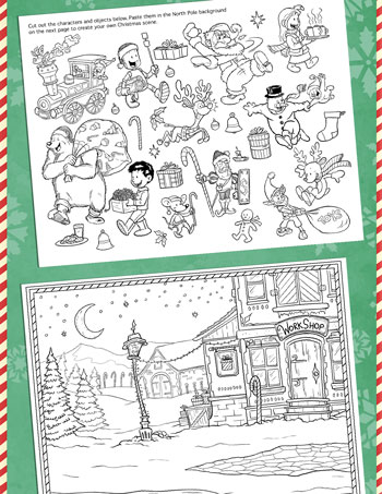 christmas cut and paste activity