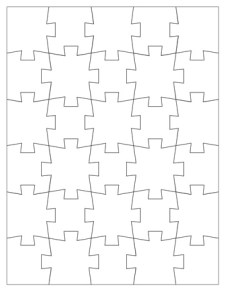 Jigsaw Puzzle Template - 30 Pieces