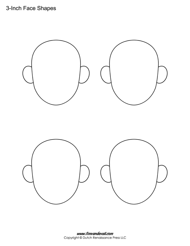 Blank Face Templates