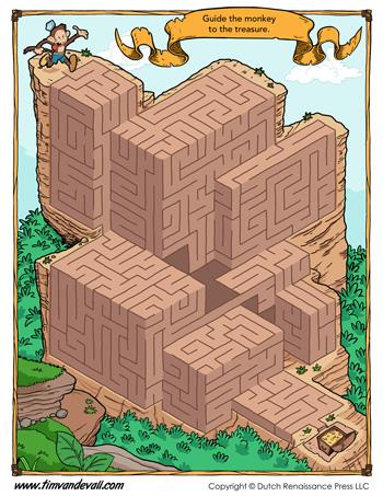 free maze printable activity