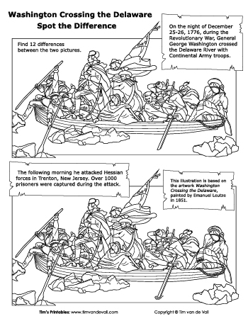 Spot the Difference - Washington Crosses the Delaware