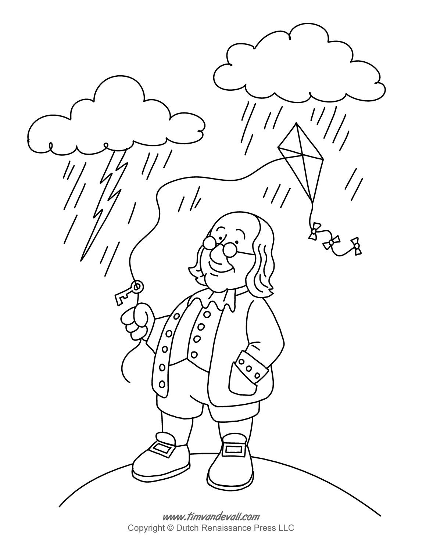 Ben Franklin Coloring Page