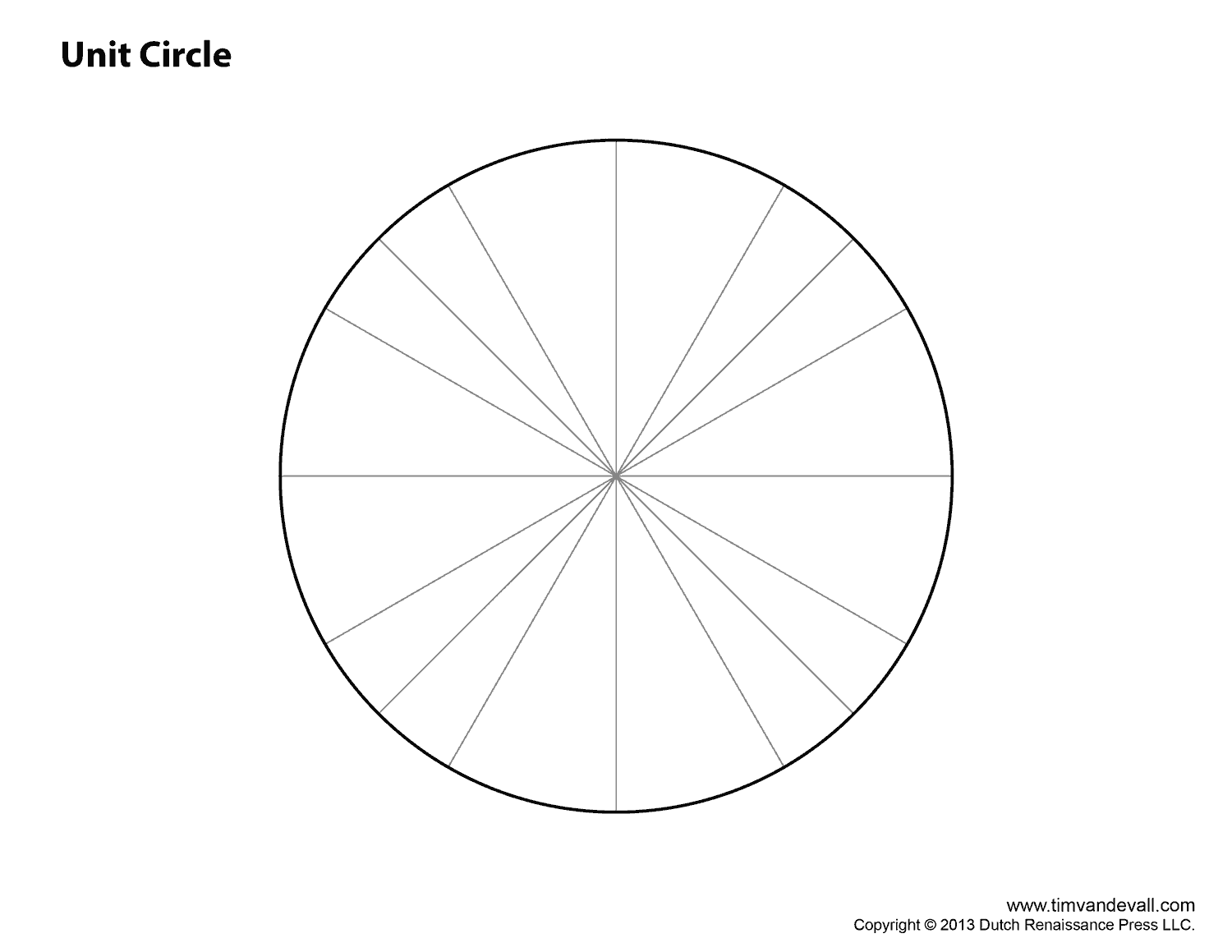 Fabulous Unit Circle Printable