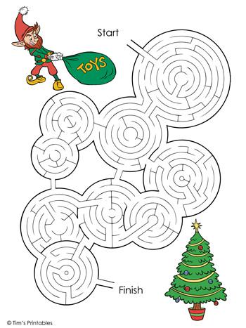 christmas maze color
