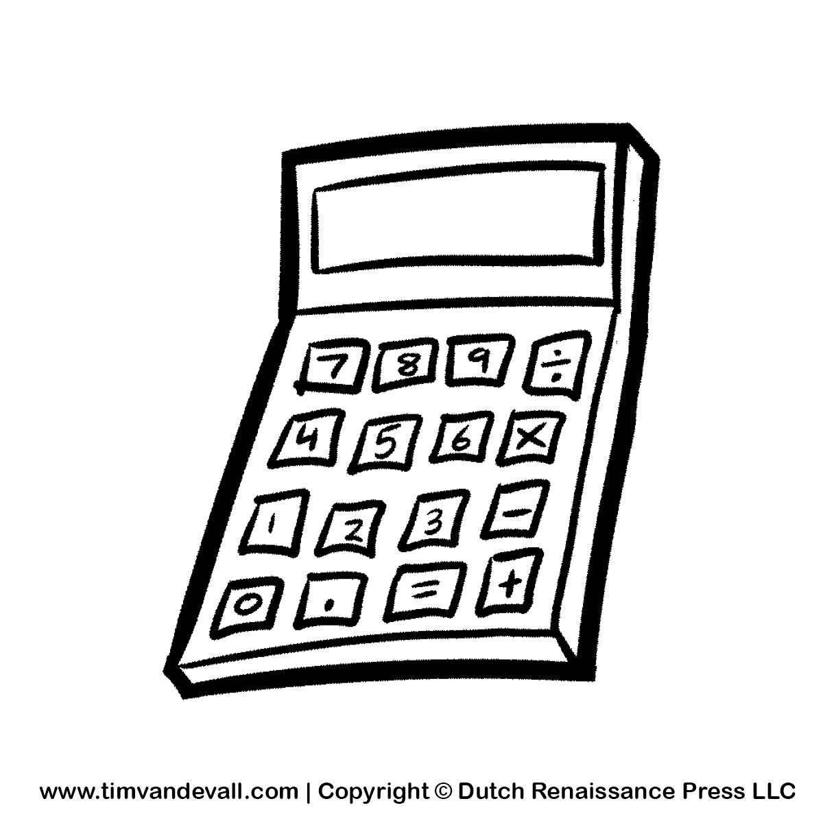 Free Calculator Clipart Pictures For Kids