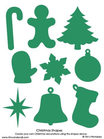 christmas shapes green