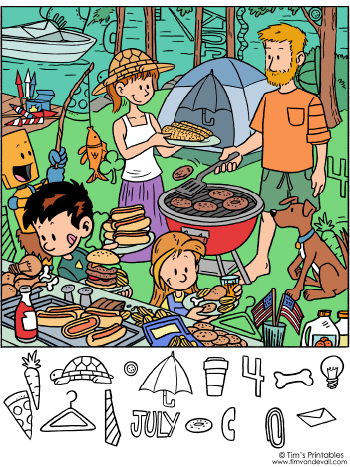 July 4th hidden objects puzzle