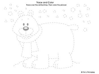 Polar Bear Tracing Sheet