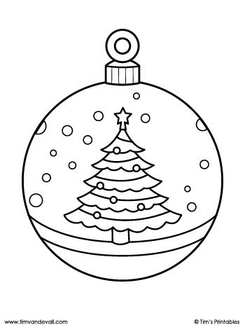 printable christmas ornament