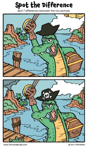"Spot the Difference 14 - ""The Crocodilian Corsair!"""