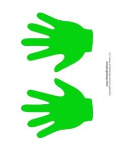 Handprint Templates - Green
