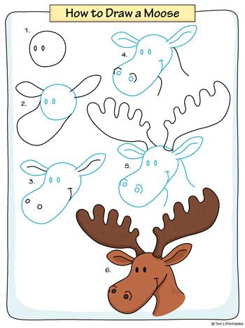 Moose Drawing Tutorial PDF