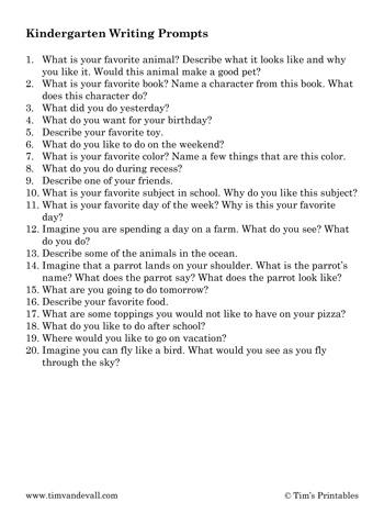 kindergarten-writing-prompts