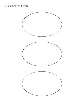 oval printables