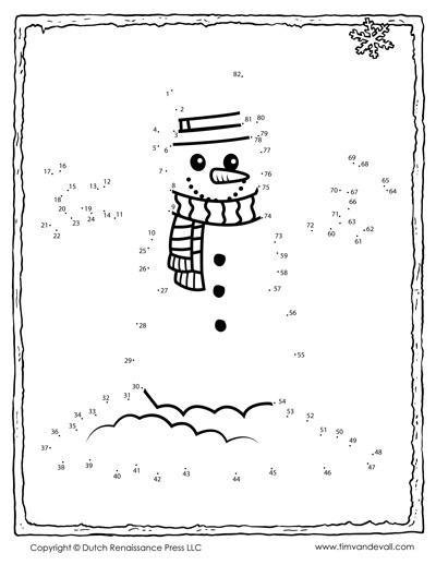 snowman dot-to-dot