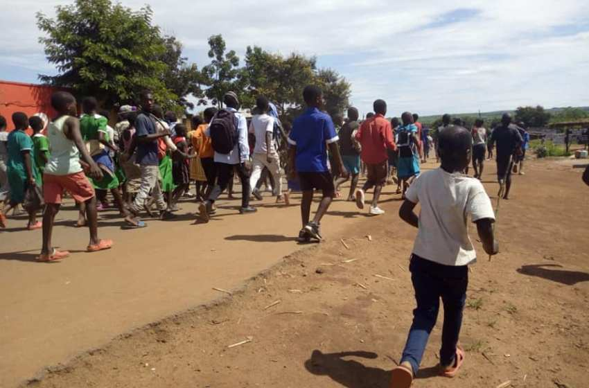 PUPILS PROTEST AS SCHOOLS REOPEN