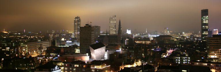 Eindhoven skyline by night