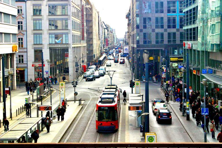 Friedrichstrasse Oost-Berlijn shoppen Berlijn winkelen