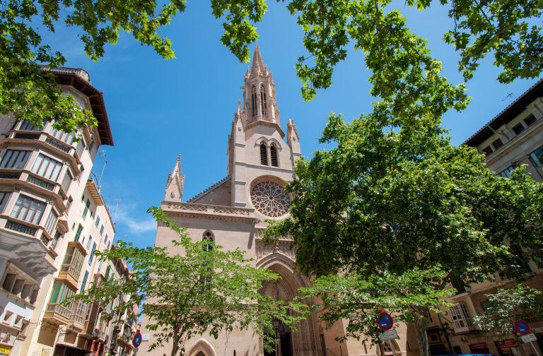 Santa Eulalia kerk plein Palma de Mallorca
