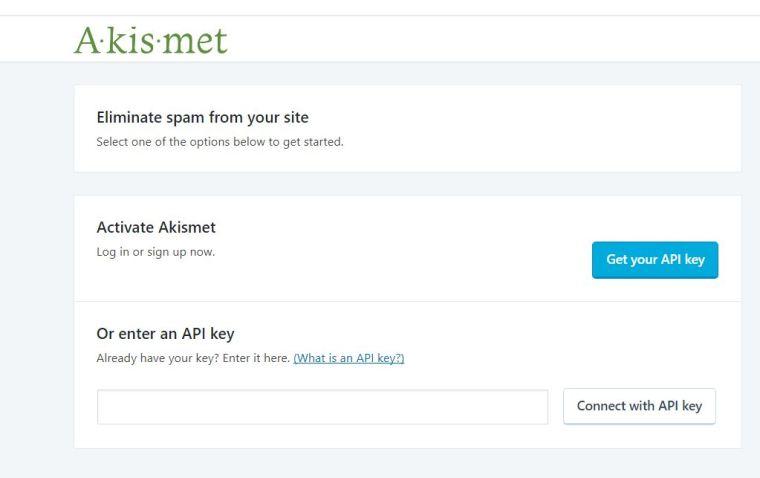 Wordpress Setup - Akismet API Key