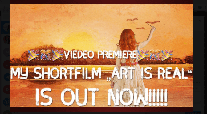 "Video premiere ""Art is real""!!!"