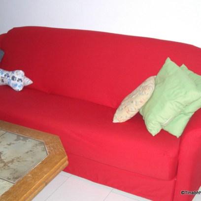 rotes Sofa