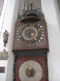 Marienkirche - astronomische Uhr aus dem 15. Jahrhundert