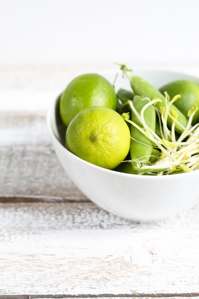 Limes and sprouts