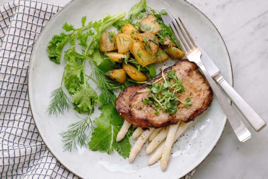 Spargel mit Kalbsschnitzel
