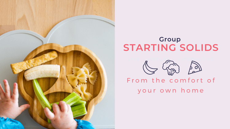 starting solids - Online and in-person perinatal workshops