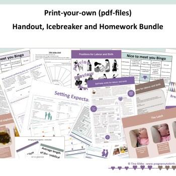 Handout, Icebreaker and Homework Bundle